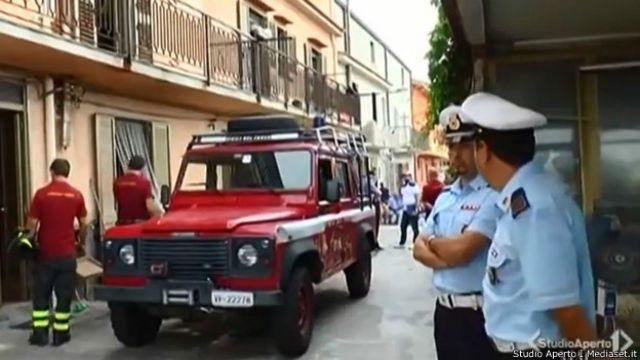 Autoridades italianas (Studio Aperto / Mediaset.it)