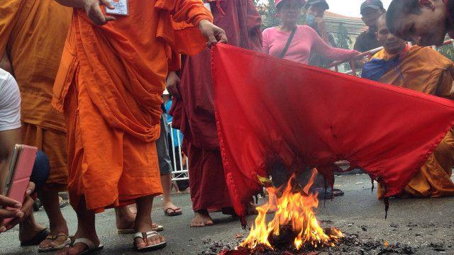 Sư Sơn Hải đã tham gia nhiều cuộc biểu tình chống Việt Nam