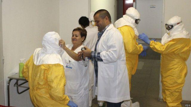 Los trabajadores de Madrid adoptaron todas las medidas de seguridad.