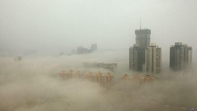 Смог на востоке Китая