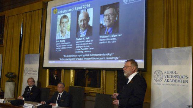 Pengumuman pemenang Nobel Kimia 2014.