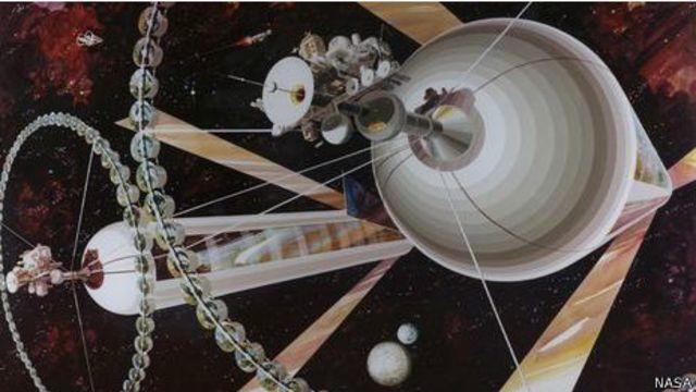 Sociedade Interplanetária Britânica vislumbrou uma colônia em formato de disco voador