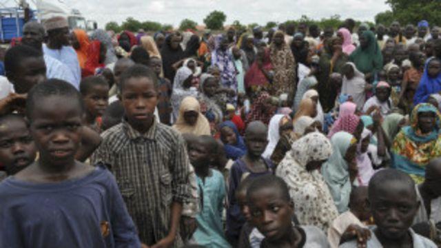 Wasu 'yan gudun hijira a Nigeria