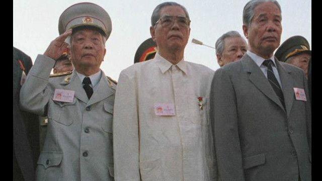 Các ông Võ Nguyên Giáp, Nguyễn Văn Linh và Đỗ Mười