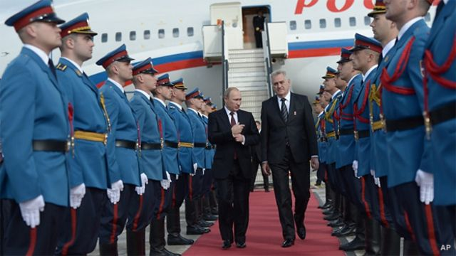 Президенты России и Сербии