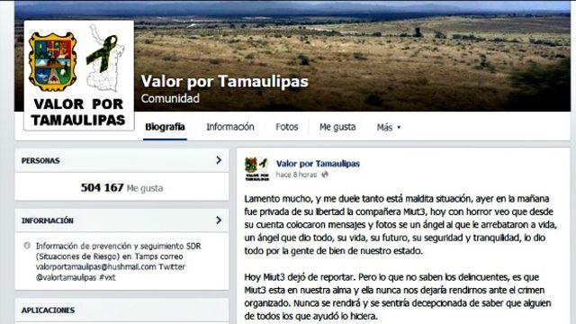 Página en Facebook de Valor por Tamaulipas. Foto: BBC