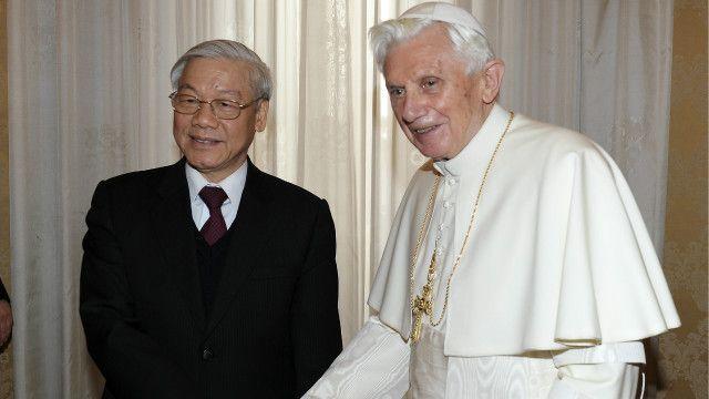 Đức Giáo hoàng Benedict XVI tiếp Tổng Bí thư Nguyễn Phú Trọng vào tháng 1/2013
