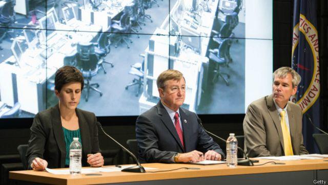Пресс-конференция НАСА после аварии ракеты