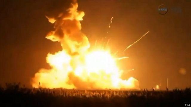 Взрыв ракеты-носителя Antares