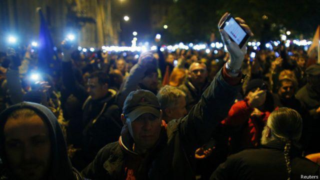 Демонстрация протеста в Будапеште