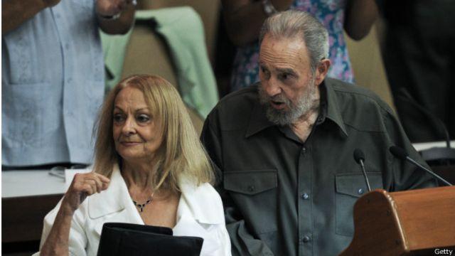 Fidel Castro y su compañera de larga data, Dalia Soto del Valle