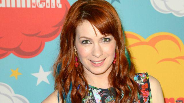 Felicia Day, actriz que ha producido varias series sobre videojuegos y víctima de Gamergate.