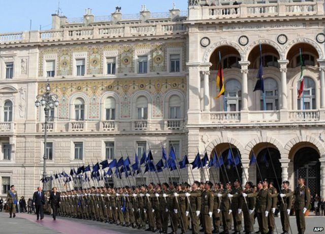 Merkel visita Trieste