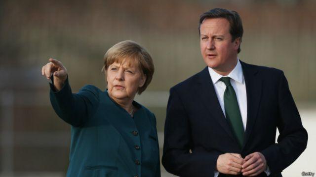 Ангела Меркель и Дэвид Кэмерон