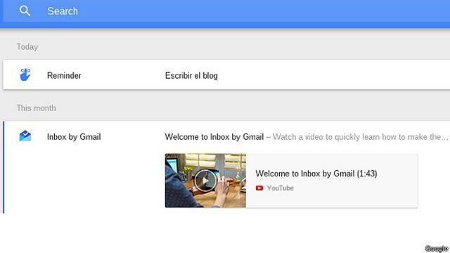 "Inbox me recordó ""Escribir el blog"". Aunque no era que se me iba a olvidar."