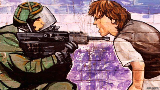Pintura en un muro en Belfast