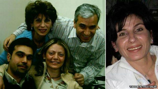 سمیره الخلیل (بالا سمت چپ و همچنین عکس سمت راست) و همکارانش