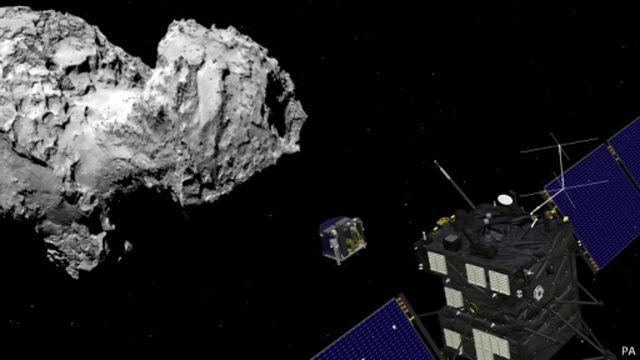 La ESA consiguió posar un módulo en un cometa.