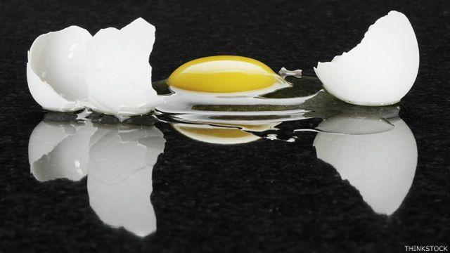Huevo quebrado