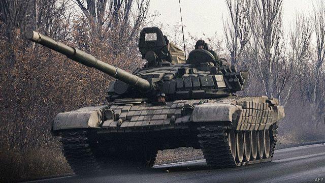 Танк под Донецком