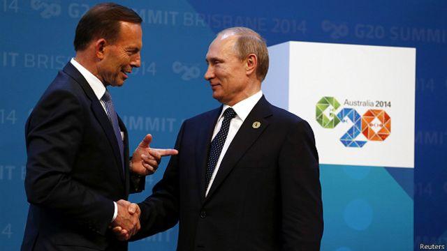 Австралийский премьер Тони Эббот и Владимир Путин