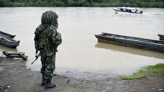 Soldado colombiano en el departamento de Chocó.