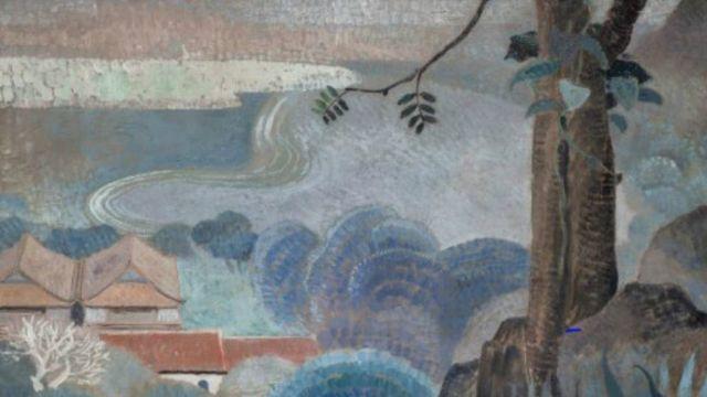 Bức tranh ra đời cùng năm khi Lê Phổ sang định cư ở Pháp