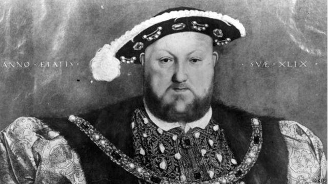 Генрих VIII, король Англии (1509-1547), портрет работы Гольбейна