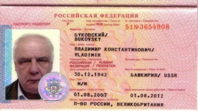 Паспорт Буковского