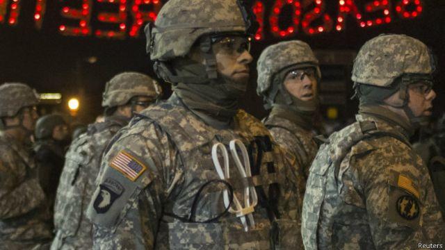 La Guardia Nacional volvió a ser desplegada en Ferguson esta semana.