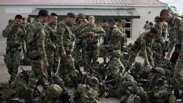 Soldados colombianos en Chocó
