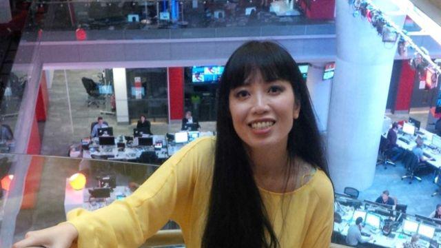 Nghệ sỹ dương cầm Bích Trà tại trụ sở của BBC ở London