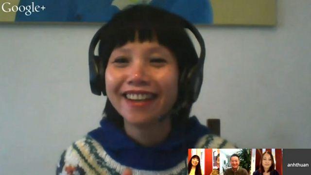 Nhà văn Thuận và các khách mời trong buổi thảo luận trực tuyến