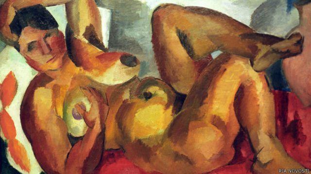 "Картина Роберта Фалька ""Обнаженная. Крым"