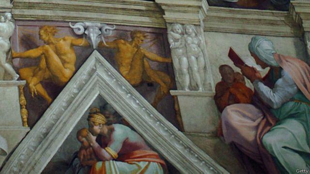 Фрагмент росписи Сикстинской капеллы
