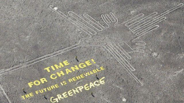 Greenpeace en Líneas de Nasca