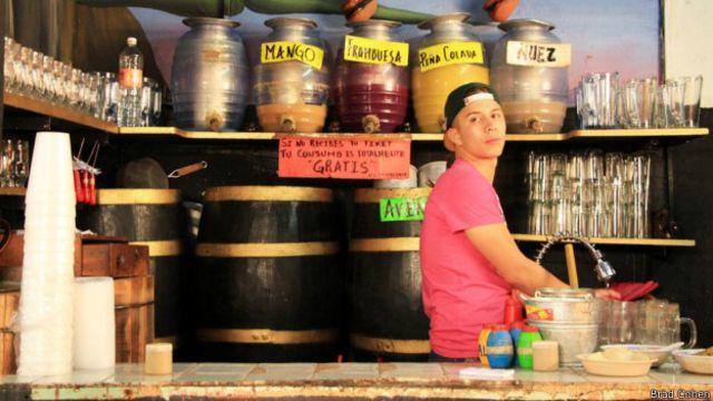 Quán La Risa phục vụ nhiều loại rượu thùa khác nhau