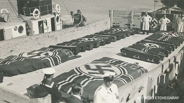 Foto del Graf Spee, propiedad de Alfredo Etchegaray