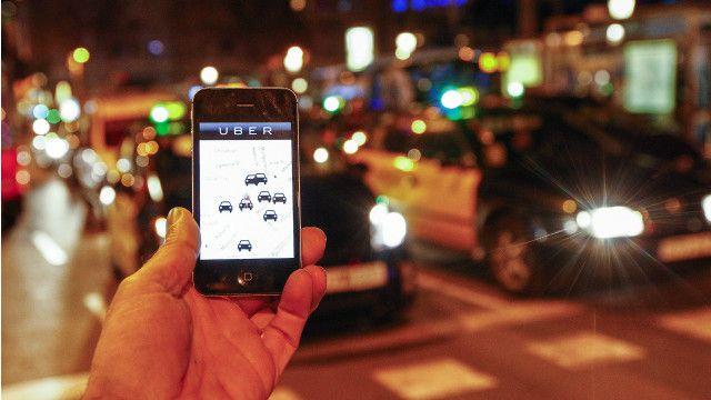uber on street