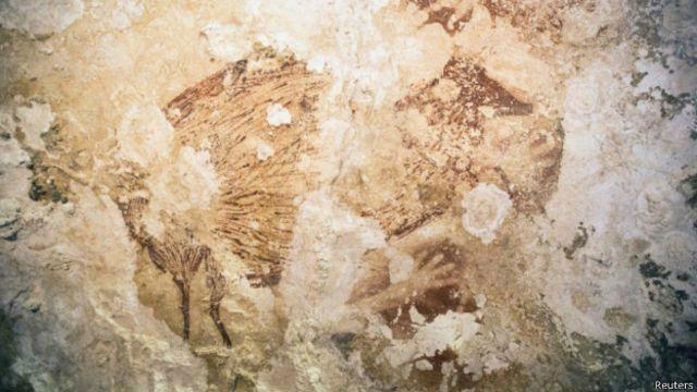 تصویری از غارنگارههای جزیره سولاوسی اندونزی