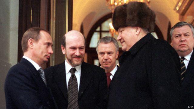 Владимир Путин и Борис Ельцин