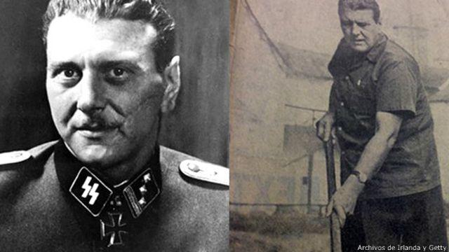 Otto Skorzeny fue un destacado agente nazi durante la Segunda Guerra Mundial. A la derecha, trabajando en su granja en Irlanda.