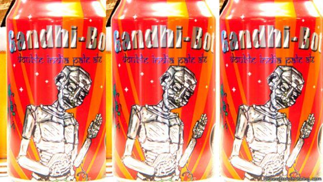 Thánh Gandhi được dùng làm thương hiệu cho một loại bia