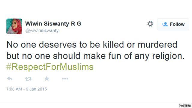 """""""Tidak ada yang boleh dibunuh, tetapi siapapun juga tidak boleh mengejek agama apa pun."""""""