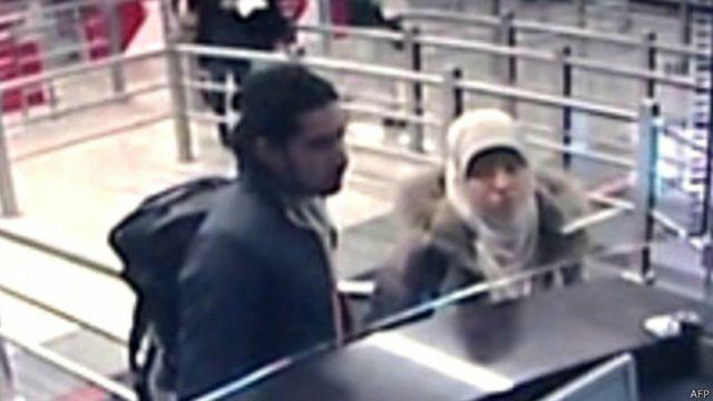 تصاویر مداربسته ظاهرا حیات بومدین را در روز دوم ژانویه در فرودگاهی در استانبول نشان می دهد