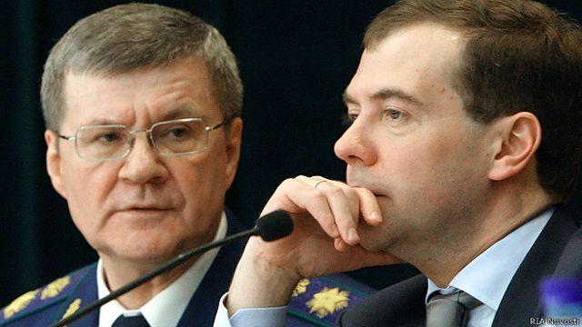 Юрий Чайка, Дмитрий Медведев