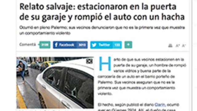 Recorte de prensa de La Nación