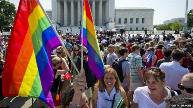 Manifestación a favor del matrimonio gay