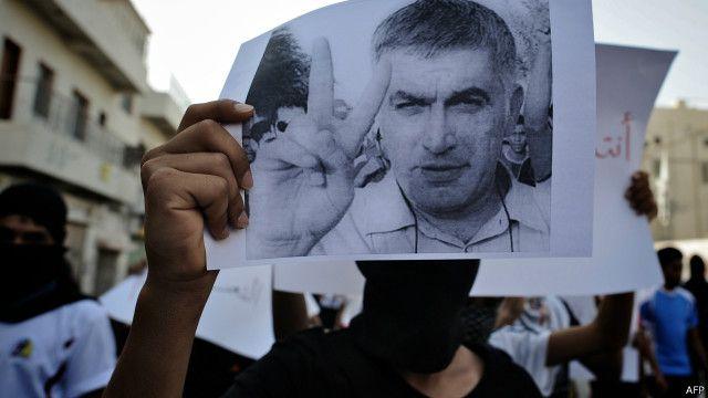 دخل رجب السجن عدة مرات في البحرين