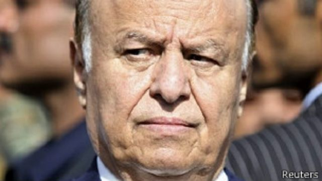 Perezida Mansour Hadi yimuriye ubutegetsi bwe i Aden